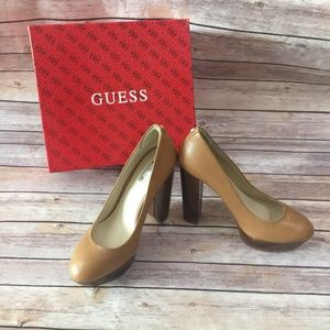 Rare-HTF-GUESS-Light-Brown-Leather-Padey-Shoe-
